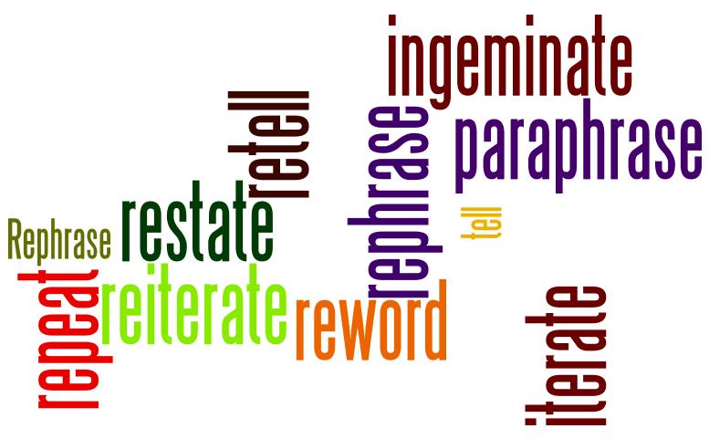 Paraphrase synonym